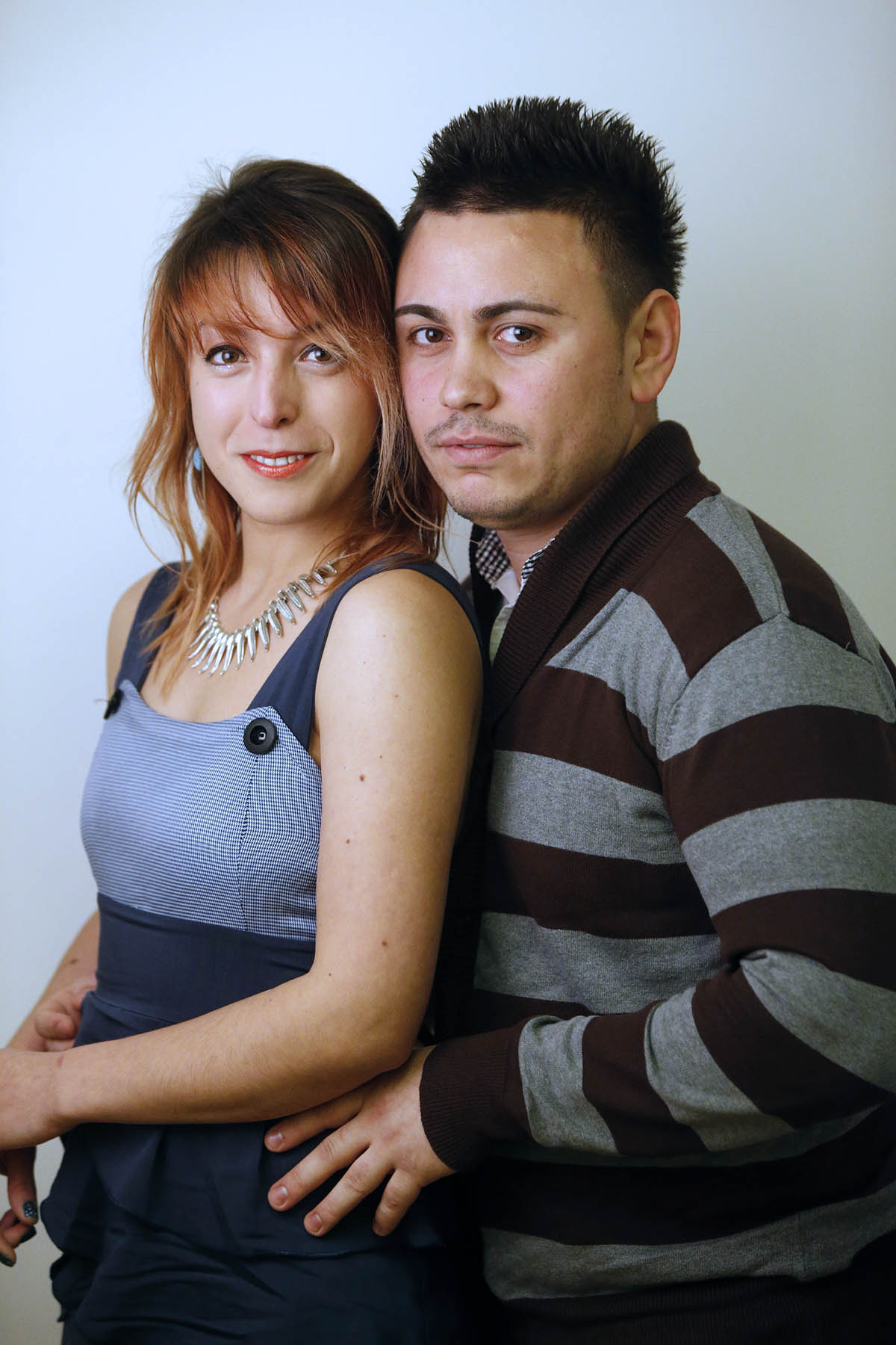 Alexandra Taropa with her boyfriend and dance partner, Ovidiu Lucian Hustiu.