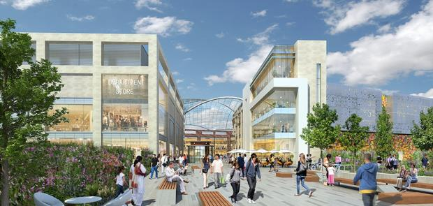 Times Series: An artists impression of what the new Brent Cross Shopping Centre could look like.