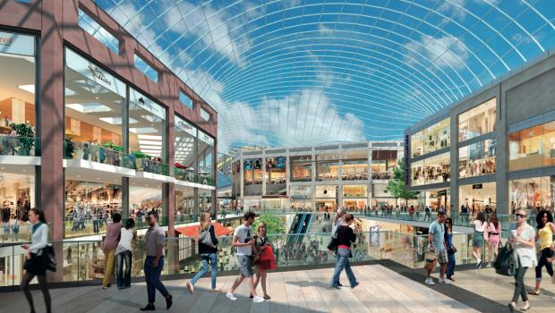 An artists impression of the new Brent Cross shopping centre