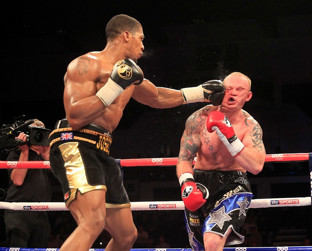 Anthony Joshua wasn't at his best against Dorian Darch but his power continues to cause damage in the heavyweight division. Picture: Lawrence Lustig