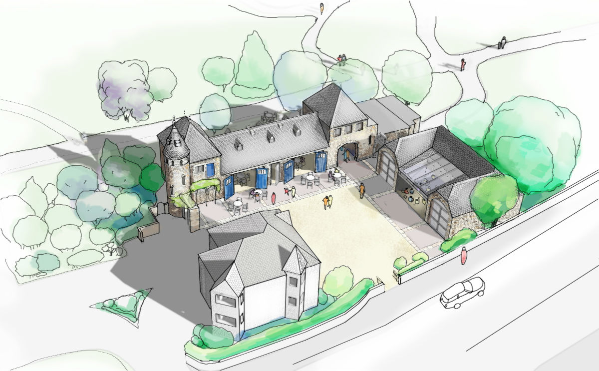 Architect's drawing of how the stables would look when they are converted (pciture: Cazenove Architects)