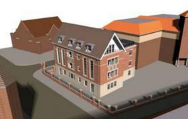 Architect's plans for the Old School House in Victoria Avenue.