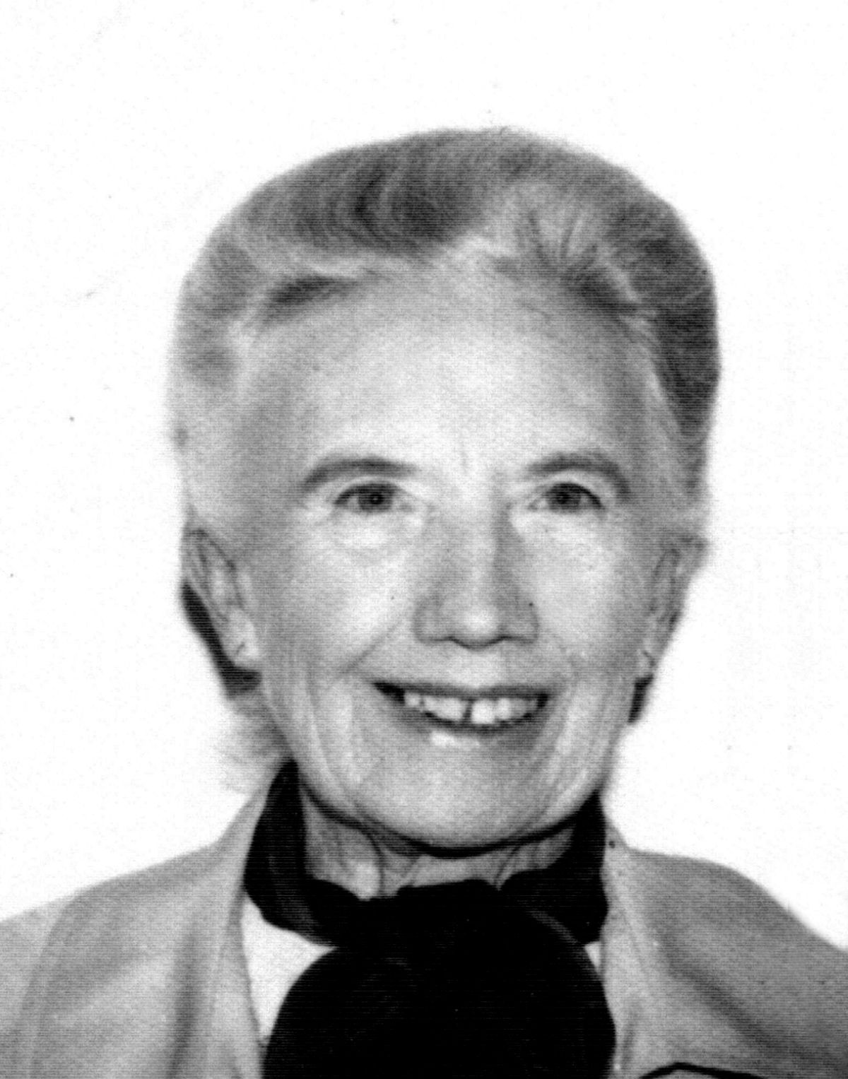 Choral singer Edith Violet Tyler, who has died aged 85.