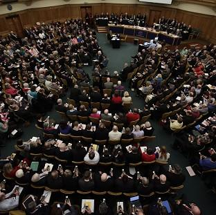 Times Series: The Church of England's General Synod is to vote on a fast-track scheme for women bishops