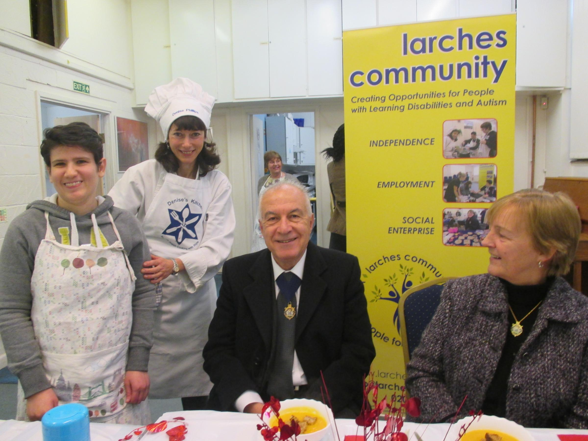 L-R: Helper Ilana, cookery tutor Denise and Councillors Andreas and Joanna Tambourides.