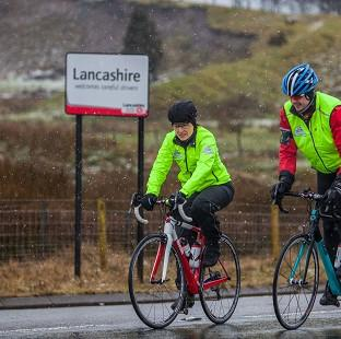 Davina McCall is making an epic journey from Edinburgh to London.