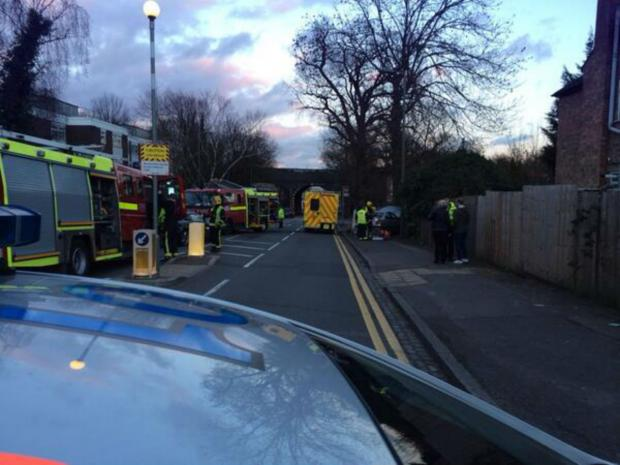 The road was closed for about an hour, causing disruption to bus routes 326 and 383. Pic tweeted by Barnet MPS