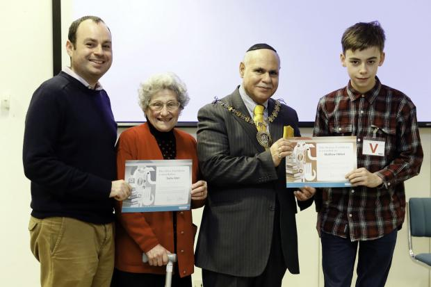 Times Series: Sadie Allen and Matthew Hibbett with Cllr Rams and Mayor Cohen