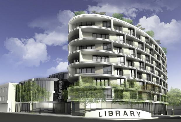 An artist's impression of the new library at Gateway House.