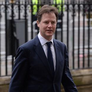 Nick Clegg claimed he was being blocked by his Tory coalition partners from introducing measures to bring the work of Britain's spies into the open