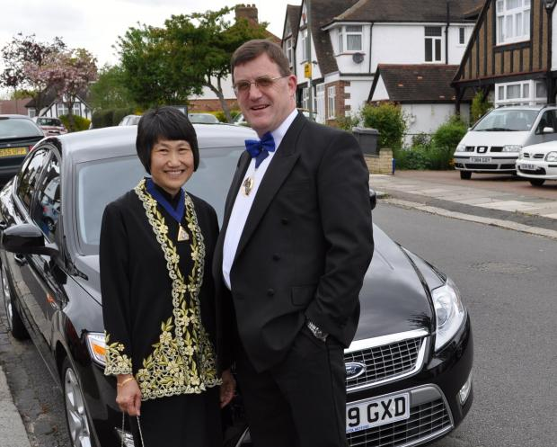 Times Series: Hugh and his wife Susan, when he was deputy mayor in 2010