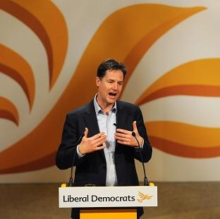 Nick Clegg speaks during the Liberal Democrat Spri