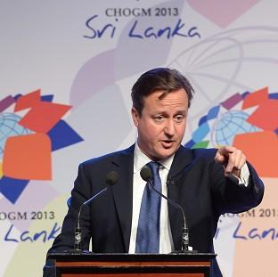 Prime Minister David Cameron during November's summit in Colombo, Sri Lanka