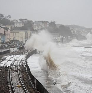 Damage to the railway in Dawlish, Devon, reduced train pun