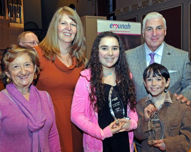 Emma Sherrard (centre) was presented with her Young Singer of the Year prize by Mitch Winehouse, father of the late singer Amy Winehouse