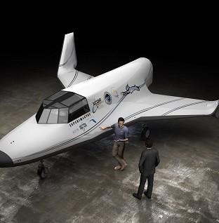 Times Series: An artist's impression of the Lynx Suborbital Vehicle as space enthusiasts will soon be able to board a rocket for just a fraction of the cost (XCORAerospace)
