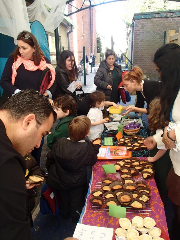 Times Series: Children sold homemade chocolate and banana muffins made with Fairtrade ingredients to raise money