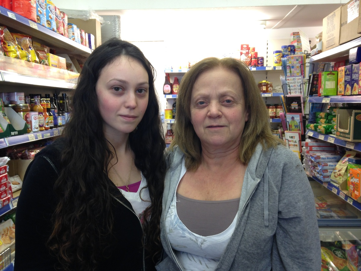 Sarah Cohen and her daughter, Tanya, who also works in the shop