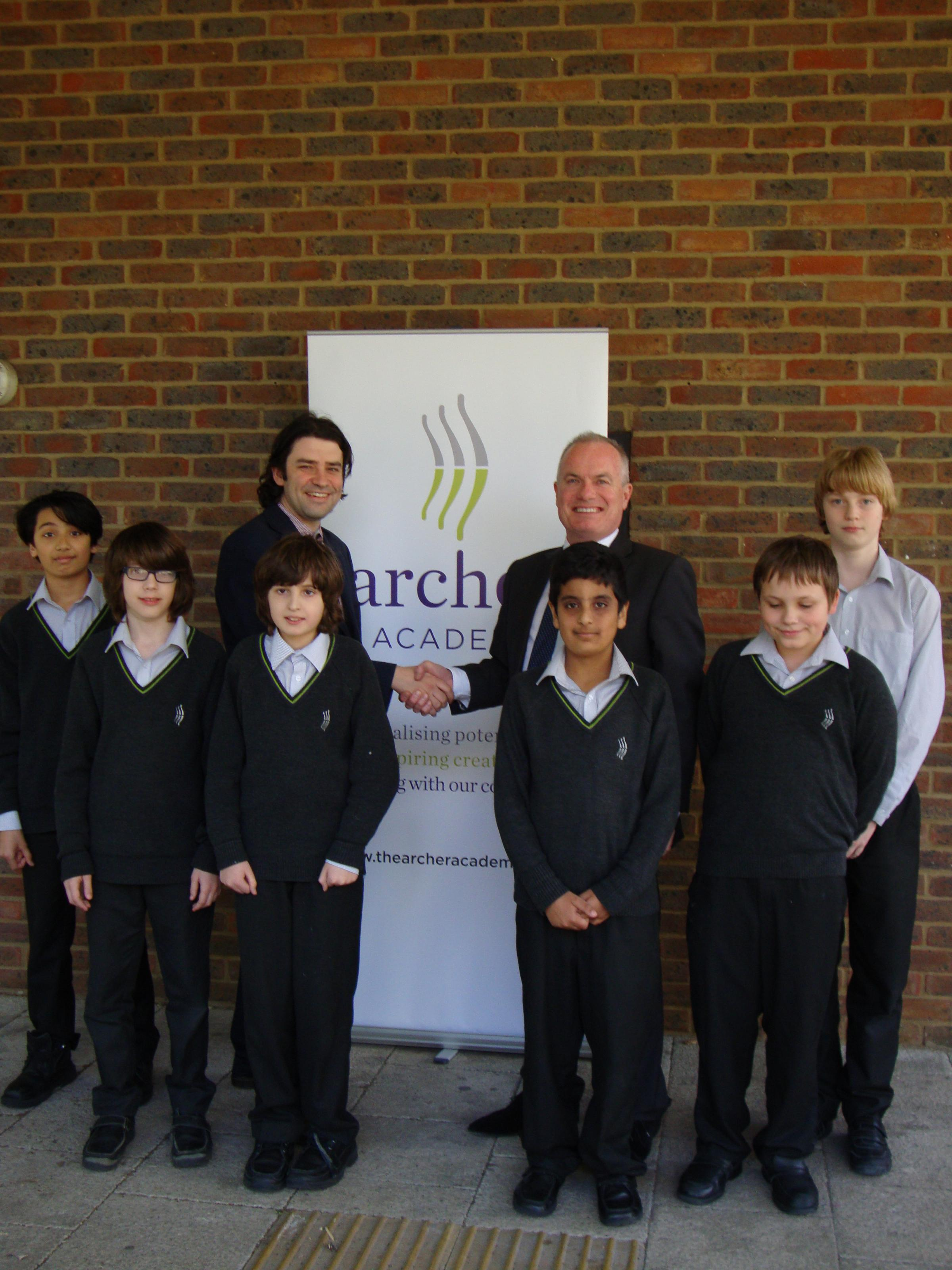 The Archer Academy will receive £10,000 from GLH to buy new books for its library.