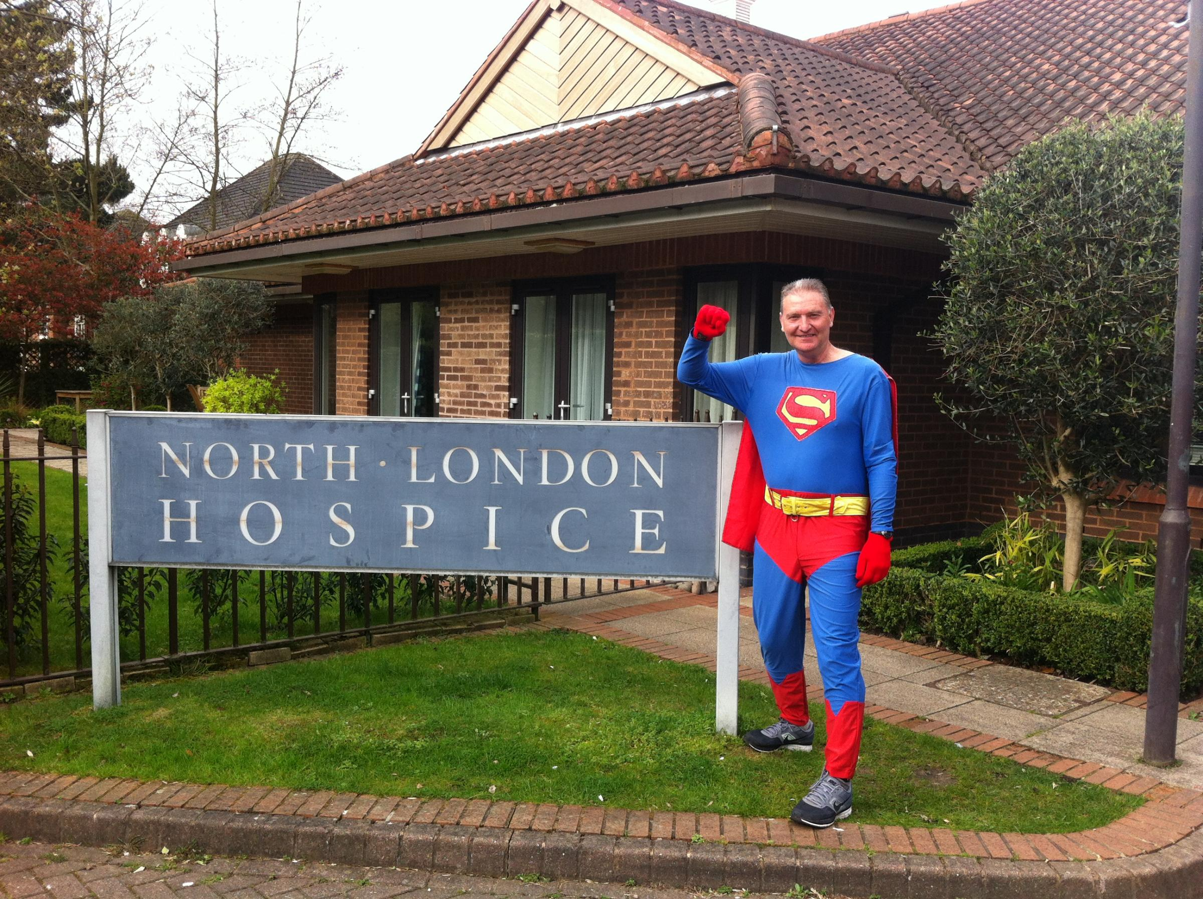 Superman John Wallace going for his 288th marathon.