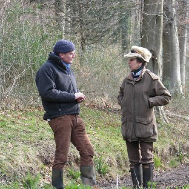 Times Series: Tom Heap interviewing Princess Royal for BBC's Countryfile.