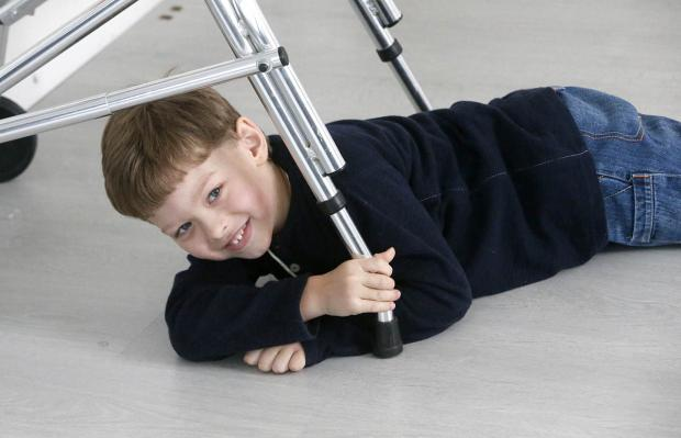 Times Series: Ethan Gibbs, aged five, suffers from cerebral palsy, which severely stiffens his muscles and joints