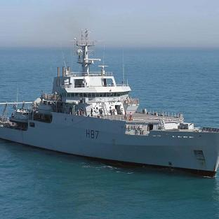 HMS Echo is helping in the search for the miss