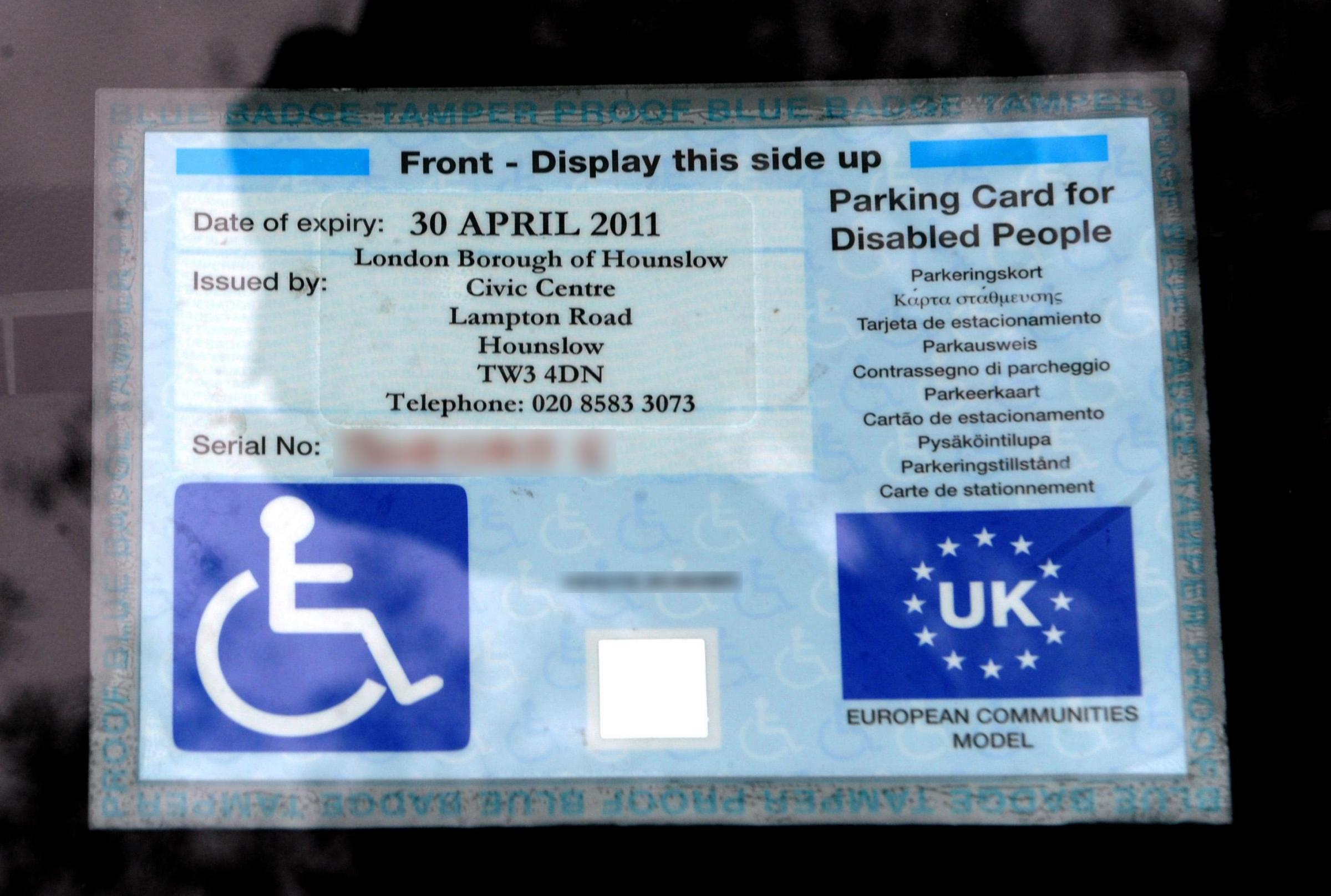 When is an unsafe space safe? When the driver has a blue badge