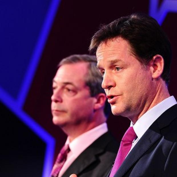 Times Series: Nigel Farage and Nick Clegg took part in TV debates about Europe