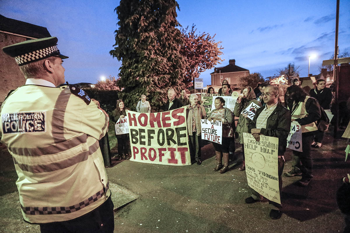 Police called in as protesters lobby MP over lack of affordable housing