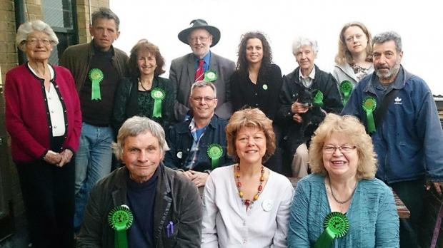 MEP Jean Lambert (bottom right) at the Misty Moon in High Barnet.
