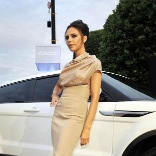 Times Series: Victoria Beckham's initials are on the car's wheels