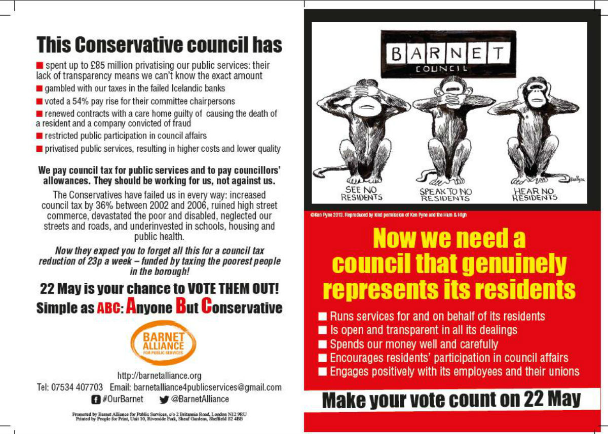 Campaign group denies claims it is distributing 'childish' election leaflets