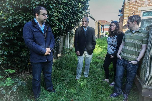 Mr and Mrs Rolfe, Mr Bezchi and Cllr Sury Khatri