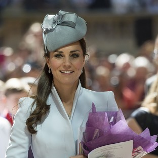 The Duchess of Cambridge pictured attending an Easter Sunday church service in Sydney