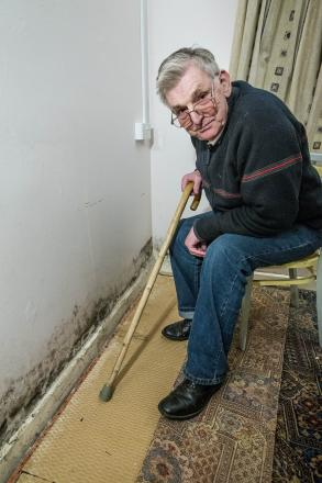 He claims contractors have told him the mould will be wiped clean and painted over – but fears this is only a temporary solution