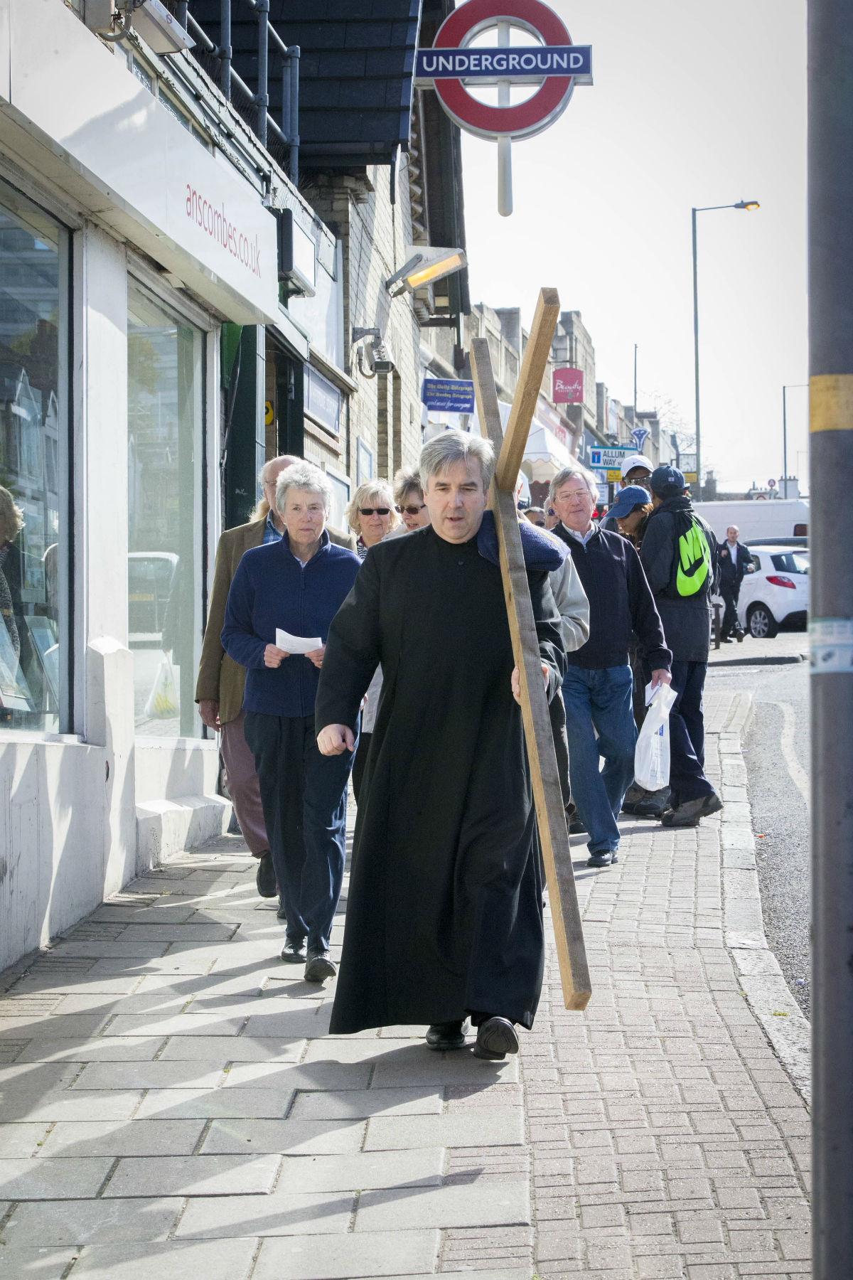 Churchgoers parade through streets in annual Walk of Witness