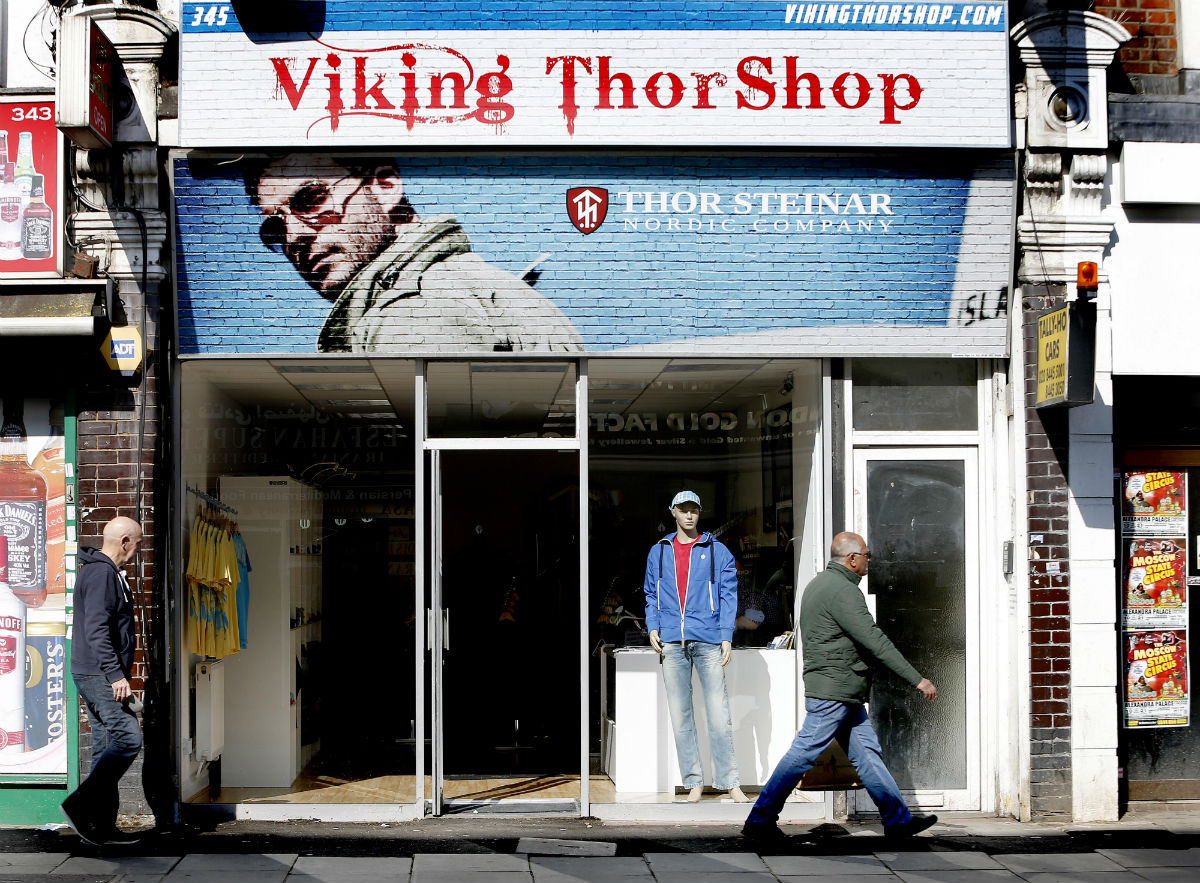 The Viking Thor Shop in Ballards Lane, North Finchley.