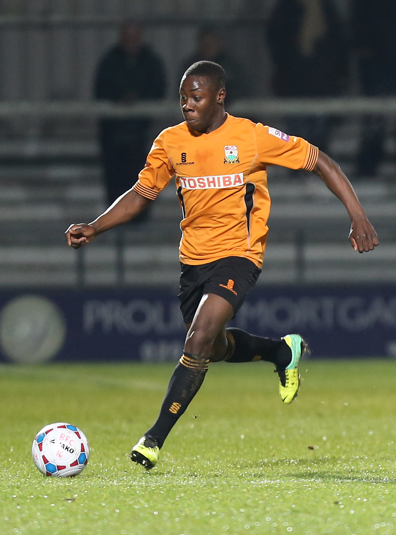 Andy Yiadom made his England C debut against Slovakia. Picture: Dave Peters