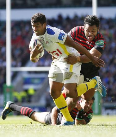 Billy Vunipola in action for Sarries against Clermont on Saturday. Picture: Action Images
