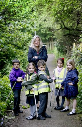 Children send strong message to litter louts