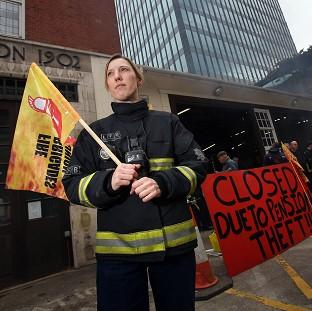 Firefighter Jes Bate at Euston