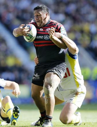 Billy Vunipola in action against Clermont in the Heineken Cup. Picture: Action Images