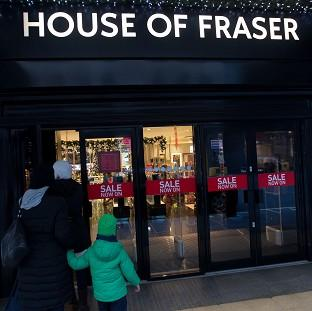 Times Series: A majority stake in House of Fraser was bought by Chinese conglomerate Sanpower