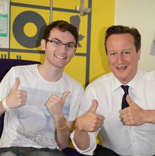 Teenage cancer patient Stephen Sutton was visited by Prime Minister David Camero