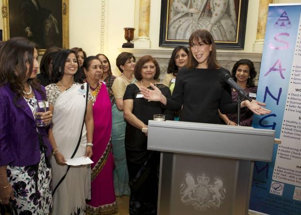 Samantha Cameron invited charity representatives to Downing Street to congratulate them on their work