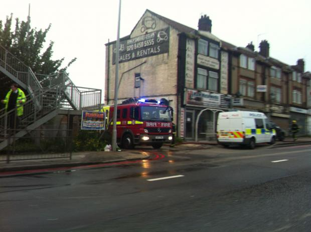 Three fire engines were called to tackle the blaze in North Circular Road, Cricklewood.