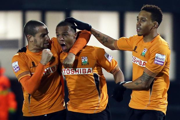 Mauro Vilhete (centre) will remain with Barnet. Picture: Dave Peters