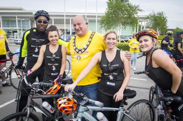Times Series: Mayor of Hertsmere's cycle ride was 'incredible'