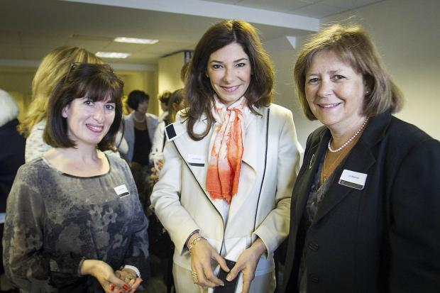 Emma May, guest speaker Lisa Ronson who is a trustee of TrainE-TraidE and commercial director at Heron International, and Liz Manuel.